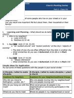 Church Planting - Worksheet #4 (Know Your Neighborhood)
