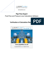 Pipe Flow Expert Results Verification