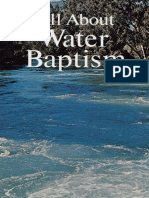 All About Water Baptism (Prelim 1972)