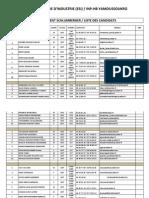 Recrutement Schlumberger Liste Candidats Esi