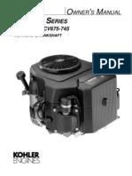Kohler CV17 - CV26 Owners Manual