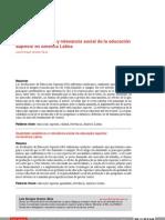 Calidad académica y relevancia social de la educación