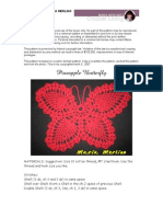 Crochet Vintage Pineapple Thread Butterfly