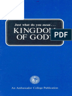 Just What Do You Mean - Kingdom of God (Prelim 1972)