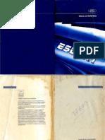 Manual Escort MK4 - Capa, Apresentação e Índice