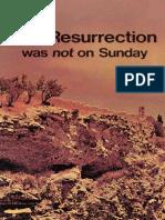 Resurrection Was Not on Sunday (Prelim 1972)