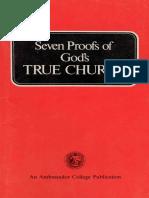 Seven Proofs of Gods True Church (Prelim 1975)