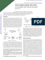 Synthesis of novel sugar-lactam conjugates using the Aubé reaction