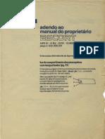 Manual Escort MK4 - Adendo Ao Manual Do Proprietário