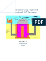 Biogas Generation Using High Solid