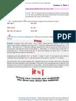 Phonics Rule 1