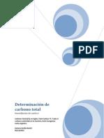 Determinación de carbono total