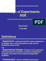 A Design of Experiments