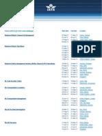 Training Schedule Airport
