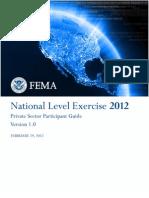 FEMA-NLE2012-PrivateSectorGuide