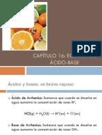Capítulo 16-Equilibrio acido-base