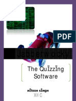 c++ (Quizzing Software)
