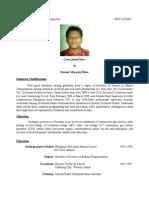 Simon's Curriculum Vitae (Updated) 2012