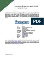 Cara Bermain Foursquare Dengan Foursquare Mobile via Web Browser