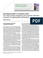 Developing Leaders in Turbulent Times Five Steps Towards Integrating Soft Practices With Hard Measures of Organizational Performance