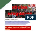 Noticias Uruguayas Domingo 3 de Junio Del 2012