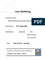 Services Marketing - Assignment