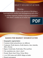 Unit 6- Market Segmentation