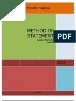 Method Statement Mechanical