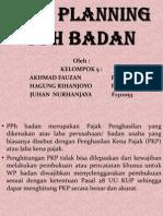 an Pajak Tax Planing Pph Badan