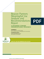 Beacon Partners Meaningful Use Analysis and Recommendations Report - Beacon Partners