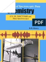 Handbook of Spectroscopic Data Chemistry UV IR PMR CNMR and Mass Spectroscopy