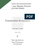 Forswearing Allegiance Fulton Casper2008