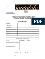 Inscripción Curso de canto VII-2
