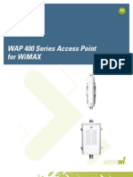 Motorola WiMAX Brief WAP 400 Series Access Point