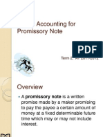ACTBAS1 Unit VI Accounting for Promissory Note
