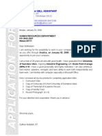 My Application and Cv