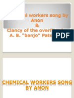 Chemical Workers Song by Anon