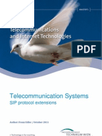 TelecommunicationSystems-SIP Protocol Extensions