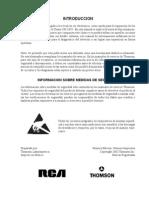 7581258 RCA Chasis CH10C5 TV Training Manual Spanish