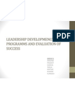 Leadership Developmengt Programms and Evaluation of Success