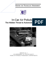 In-Car Pollution Report