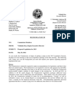 Prior Legislative Recommendations of the Florida Commission on Ethics May 29, 2012