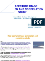 Real Aperture Image Generation and Correlation Study