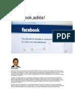 ¡Facebook, adiós!. Por Ricardo Vásquez Kunze