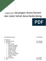 Laporan Keuangan Acara Senam Dan Jalan Sehat Desa