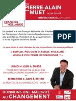"""Tract Invitation sur """"Emploi, Pouvoir d'Achat, Fiscalité"""""""