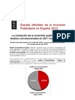Infoadex-2011 sobre inversión publicitaria en España