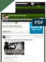 ¡ Guía de Logros de Call of Duty World at War !