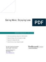 Pew Center Research on Eating and Cooking