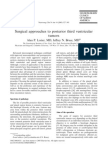 Surgical Approaches to Posterior Third Ventricular Tumors